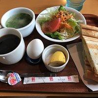 モーニングセット(トーストサンド)味噌汁付き!