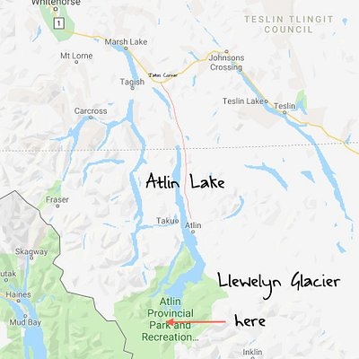 From the Alaskan Hwy, a wilderness road takes you to Atlin.