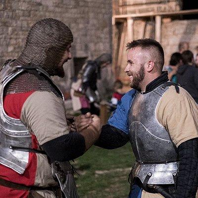 Knights handshake