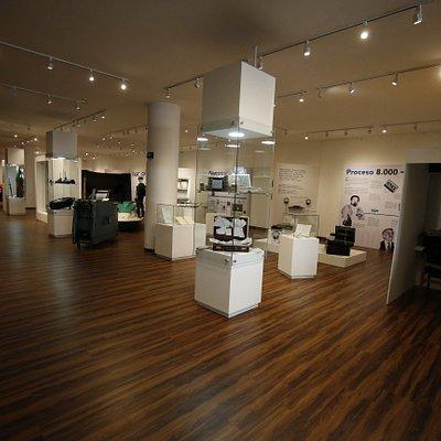vista general de las salas de la exhibición permanente