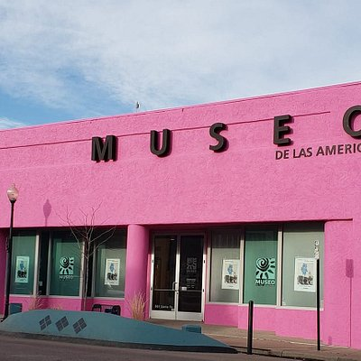 Museo de las Americas is the pink building at 861 Santa Fe Drive, Denver, CO 80204.  Museo has been at the same location since 1991 in the Arts District on Santa Fe.