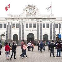 Fachada de la Casa de la Literatura Peruana 2019.