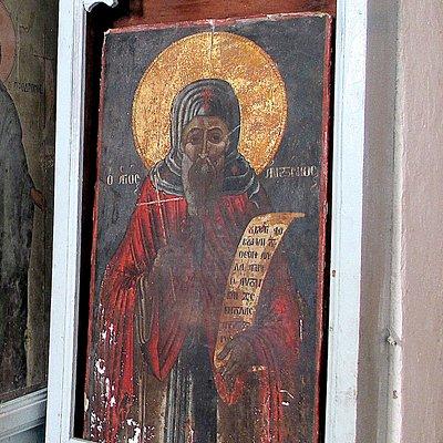 Фото 5. Икона Св. Антония на южной стене (справа от иконостаса).