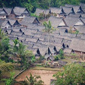 DRAGON VILLAGE IS A TRDITIONAL VILLAGE IN WEST JAVA  LIVE IN THE RICE FIELD AREA