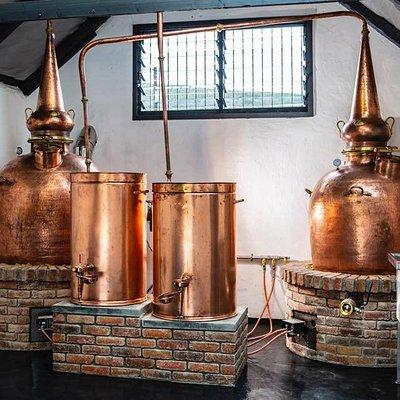 Flame-fed Copper Pot Stills