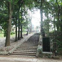 「市杵嶋神社」の点前ににある石段