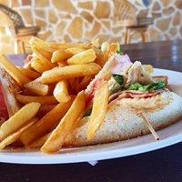 Club sandwich at Remezzo's.