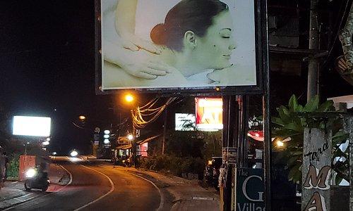 Outside sign