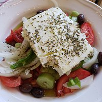 Greek Salad made the traditional way.