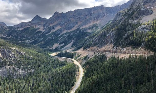Washington Pass on the North Cascade Highway (US20), a must take route to the lodge or on a day trip.  On 30 to 40 minutes from the property.
