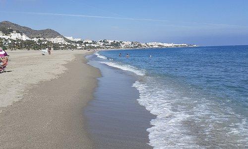 Beautiful Blue flag beach