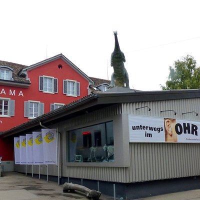 Aussenansicht vom Kulturama Museum des Menschen an der Englischviertelstrasse 9 in Zürich