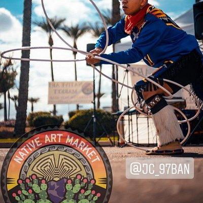 Find hoop dancing every weekend at Native Art Market.