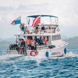 Jumbo,  the largest diving boat in Panama.