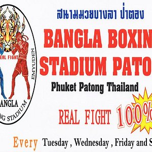 !!!Notice!!! !!!ประกาศ !!! Bangla Boxing Stadium pleased to inform that on the 08 th October 2019 in stead of 15 th October 2019 ( New event at Bangla Boxing Stadium ).  We will organise the The Real Fight Thai Boxing every Tuesday .That's mean the real fight thai boxing will be held every Tuesday , Wednesday, Friday and Sunday .