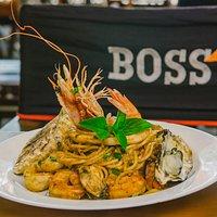 Spaghetti de frutos do mar