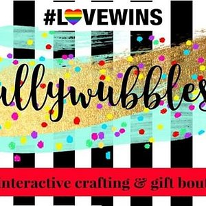 Gullywubbles is a place for ART and the young at HEART! We carry a wide variety of clothing, accessories, novelties, décor and toys! We are also home to an amazing walk in craft studio!