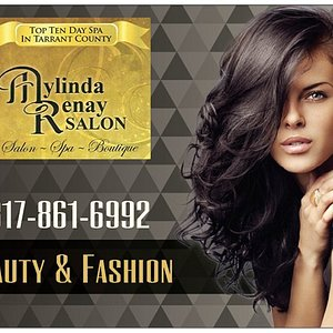 """ranging from small to 3X. Mylinda Renay Boutique features a complete selection of beauty products for your hair as well as an excellent selection of trend setting, high fashion gifts, sunglasses, designer inspired handbags, jewelry, women's apparel and accessories. Come check us out and """"For an hour for a day escape to Mylinda Renay"""" Call us now and find out why our Salon has been recognized for expertise in hair styling, make-up treatments. Over the last 18 years we have received accolades such"""