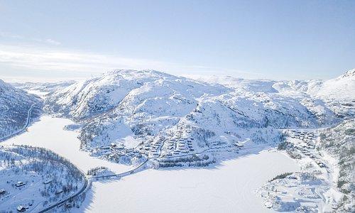 Overview photo of Tjørhomfjellet