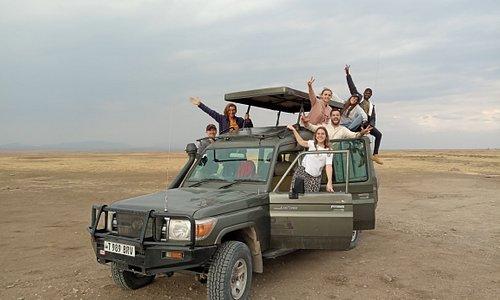 Happy safari with happy clients from Mwanza to Serengeti and Ngorongoro