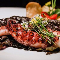 freshly grilled octopus