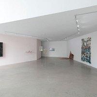 """Exhibition view """"XYXX010101000"""", curated by Dorothée Dupuis (participating artists: ASMA (Matías Armendaris & Hanya Beliá), Wendy Cabrera Rubio, Estrid Lutz, Adriana Martínez, Gabriella Torres-Ferrer), 2019"""