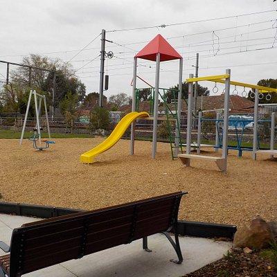 seating and playground