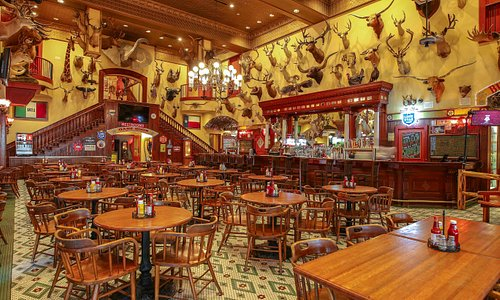 No admission required to enjoy the saloon! Check out the original bar from 1881.