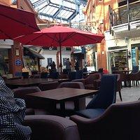 Courtyard seating area