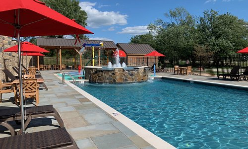 Heated Outdoor Pool with Lounge Area