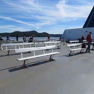 On open deck