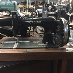 Just one of our antique sewing machines on display in our Museum. We have machines from the late 1800's through to the 1970's
