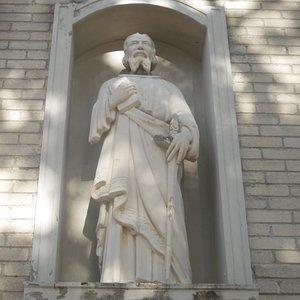 Paul holding sword