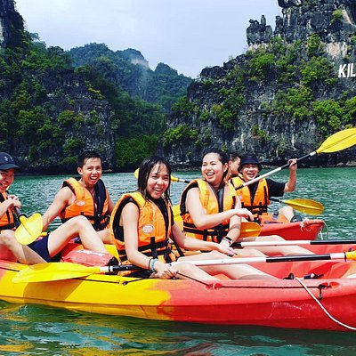 Fun & enjoying Langkawi kayaking activities at Kilim Geo Park with a local guide..