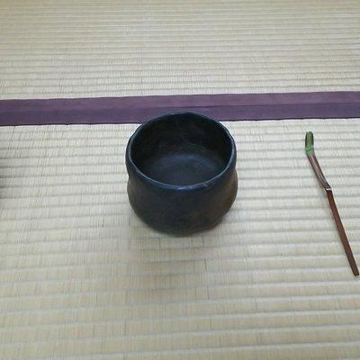 2019.10.5の茶席で使用された茶道具。開館35周年記念で、長次郎「武悪」を始め貴重な品々が使われました。