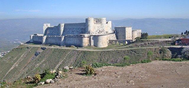 Il Krak des Chevaliers, fortezza dei crociati. Presa nel 1110 dall'Emiro di Homs da Tancredi, re degli Antiochi, e ceduta al Conte di tripoli.
