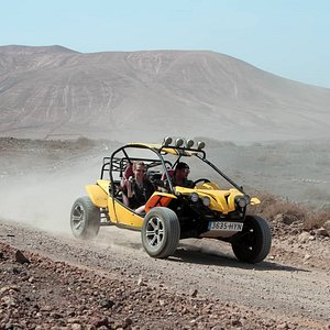 Driving 1100cc buggy