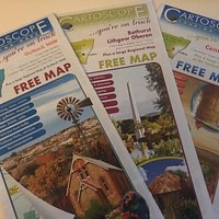Some of the maps available at the visitor information centre.