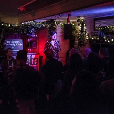 Zoe Lyons at Artista Cafe & Gallery for The Secret Comedy Club