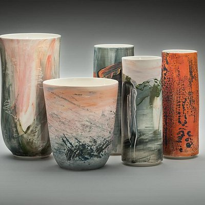 Wendy Jagger Ceramics - Terrain exhibition, porcelain