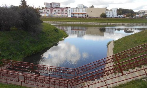 Bild tagen från Mlyn ut mot staden.