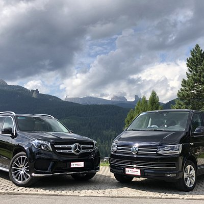 brand new Mercedes GLS car and VW Caravelle minivan summer 2019