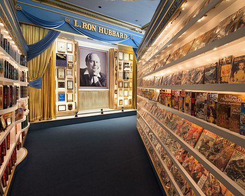 The grand finale showing L. Ron Hubbard's works and achievements.