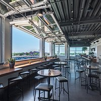 Conner's Rooftop Covered Seating with View