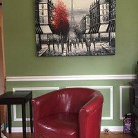Seaside Art Gallery, Newport RI - When art speaks, you must follow your heart!  Beautiful, large Parisian painting.