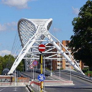 モンテマルティーニ美術館(カピトリーニ美術館分館)近くのセッティミア・スビッツィキーノ橋(Ponte Settimia Spizzichino ローマ)