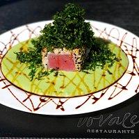 """Prato """"Cacimba"""" Atum Fresco selado no Gergelim, destaque do Restaurante Do Vale"""