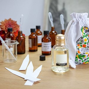 Perfume apprentice workshop fragrance kit: coton pouch and 100ml fragrance