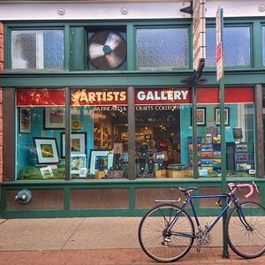 Every month our window display changes featuring new local artists.