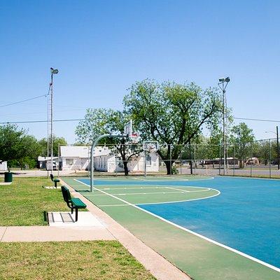 Outdoor Basketball Court in Carver Park in Abilene, Texas